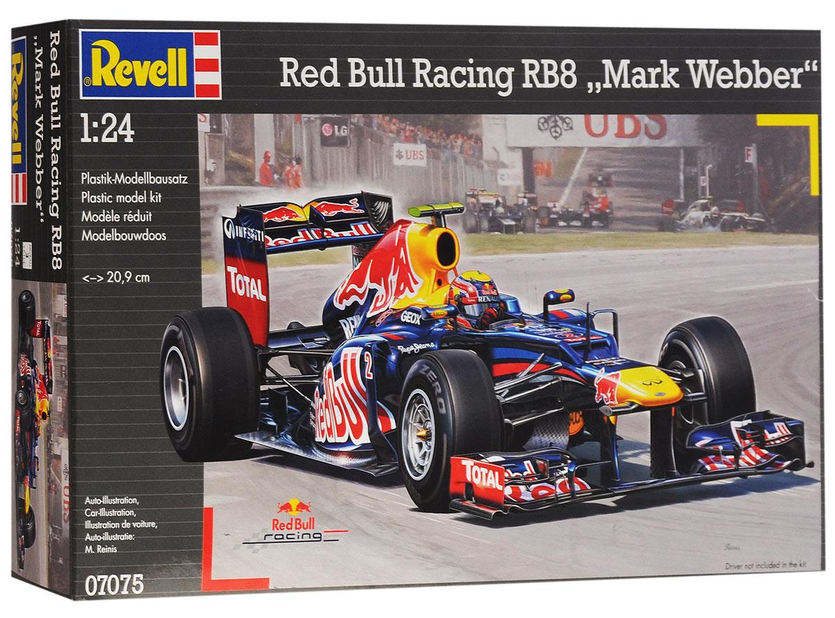 Revell Модель для сборки Red Bull Racing RB8 Mark Webber07075Модель для сборки Revell Red Bull Racing RB8 Mark Webber включает в себя элементы, выполненные из пластика, с помощью которых ваш ребенок сможет собрать эту великолепную гоночную машинку. В комплекте инструкция для пошаговой сборки, а также набор наклеек. Модель для сборки развивает мелкую моторику и пространственное воображение, учит творчески подходить к решению любых задач, развивает у ребенка чувство формы, размера, цвета и симметрии. Для сборки модели необходимы клей и краски (не входят в комплект).