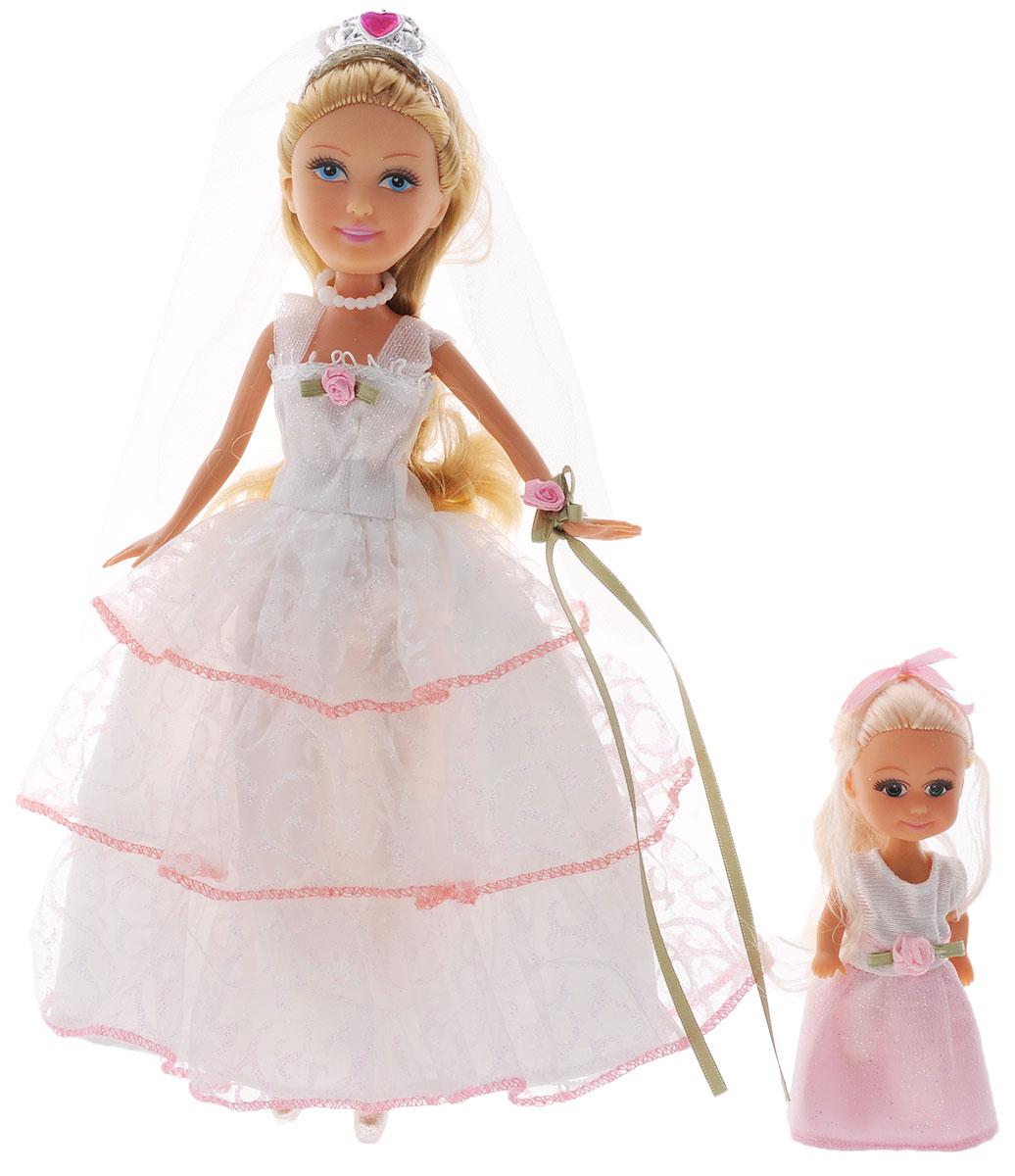 ABtoys Игровой набор Невесты240159Игровой набор ABtoys Невесты придется по душе вашей малышке. В данном наборе представлены куклы невесты - чудесные подружки, готовящиеся к свадебной процессии. Мама и дочка в свадебных нарядах, на головах у них чудесные свадебные прически. Они выполнены из высококачественного пластика, ручки, ножки и голова подвижны. Ваша девочка с удовольствием будет придумывать множество забавных историй со своими новыми любимицами и не оставит их без внимания ни на секунду.