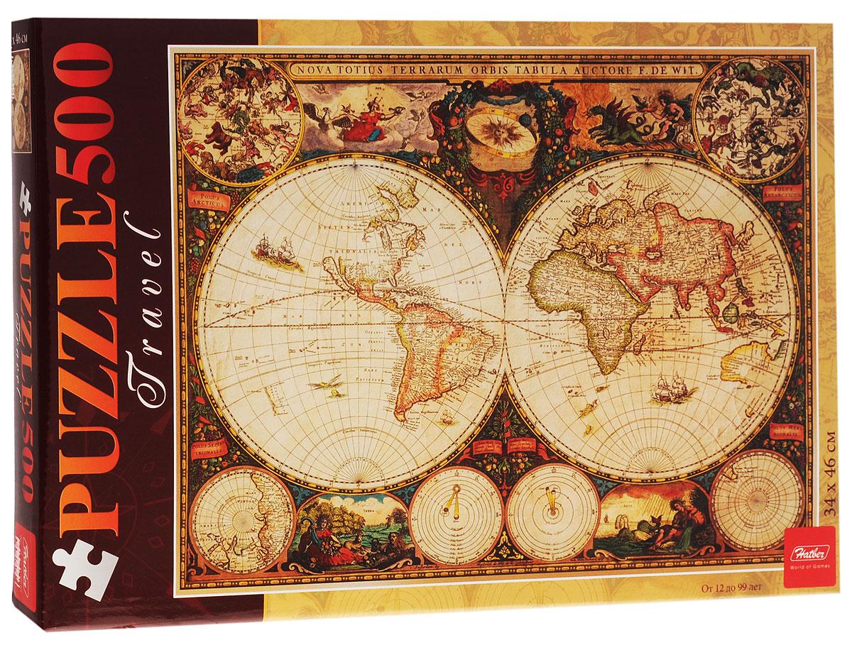 Hatber Пазл Старинная карта 1660 года500ПЗ2_12413Пазл Hatber Старинная карта 1660 года, без сомнения, придется по душе вашему ребенку. Cобрав этот пазл, включающий в себя 500 элементов, ребенок узнает, как выглядят старинные карты, и сможет в мельчайших подробностях рассмотреть карту мира XVII века. Пазлы - прекрасное антистрессовое средство для взрослых и замечательная развивающая игра для детей. Собирание пазла развивает у ребенка мелкую моторику рук, тренирует наблюдательность, логическое мышление, знакомит с окружающим миром, с цветом и разнообразными формами, учит усидчивости и терпению, аккуратности и вниманию. Собирание пазла - прекрасное времяпрепровождение для всей семьи.