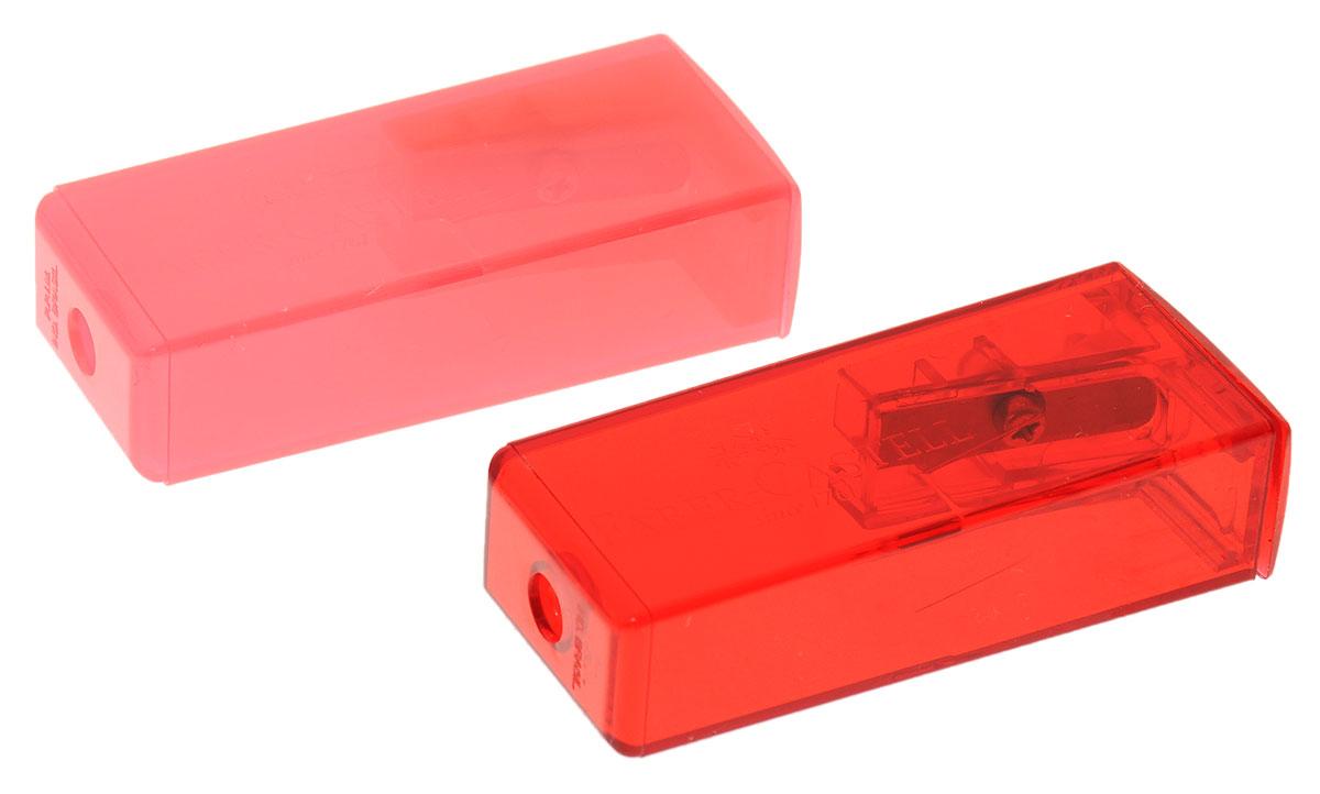 Faber-Castell Точилка флуоресцентная цвет розовый красный 2 шт263332_розовый красныйТочилки Faber-Castell предназначены для затачивания карандашей диаметром 8 мм. Полупрозрачные контейнеры позволяют визуально определить уровень заполнения и вовремя произвести очистку. Острые лезвия обеспечивают высококачественную и точную заточку деревянных карандашей. В комплекте две точилки розового и красного цветов.