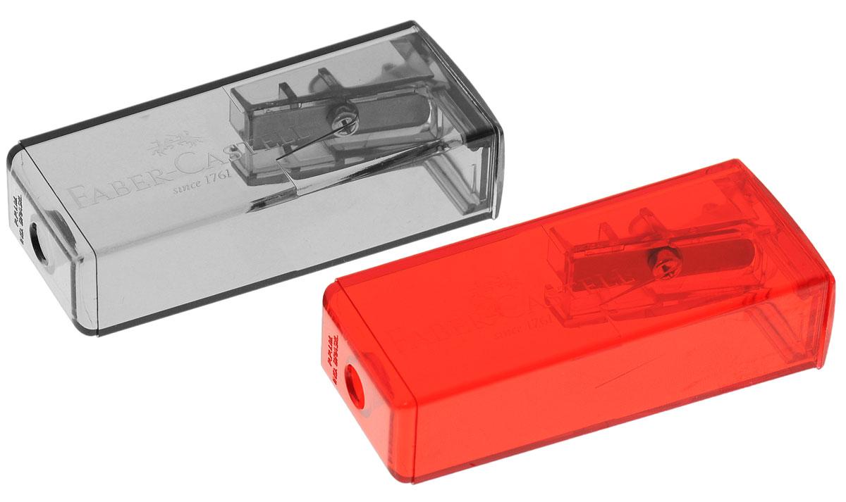 Faber-Castell Точилка флуоресцентная цвет серый красный 2 шт