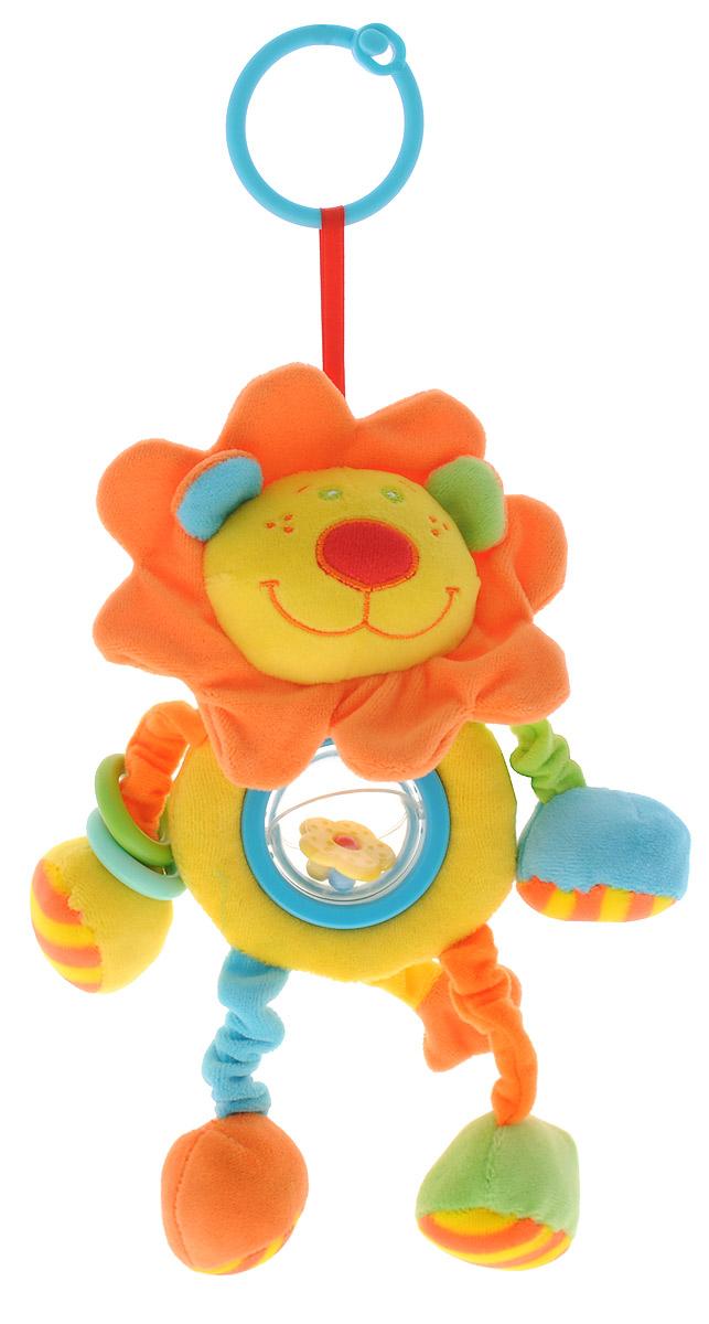 Mommy Love Мягкая игрушка-подвеска Лев РуруLKS0\MМягкая игрушка-подвеска Mommy Love Лев Руру привлечет внимание вашего малыша и не позволит ему скучать. Игрушка выполнена из текстильного материала разных цветов и фактур в виде забавного львенка. Грива львенка выполнена из шуршащего материала, в одной из лапки находится элемент пищалка, в другой - погремушка. Львенок оснащен прозрачным шариком с перекатывающимися разноцветными элементами внутри. С помощью пластикового колечка игрушку легко можно прикрепить к кроватке, коляске, автокреслу или игровой дуге малыша. Такая оригинальная игрушка способствует формированию у детей усидчивости, развитию внимания, слухового и зрительного восприятия, координации движений и моторики.