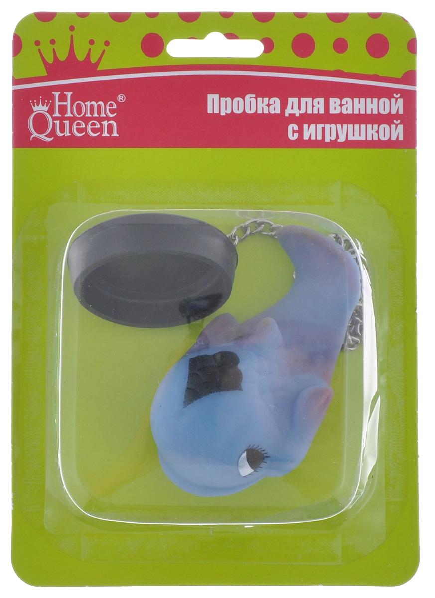 Пробка для ванны Home Queen Дельфин, цвет: голубой, 5 см х 1,5 см52517_ДельфинПробка для ванны Home Queen Дельфин изготовлена из полипропилена. Пробка оснащена цепочкой, на конце которой располагается забавная резиновая игрушка. Потянув за игрушку, вы легко вытащите пробку из ванны. Этот яркий аксессуар станет развлечением для вашего ребенка во время купания и приятным дополнением к интерьеру ванной комнаты. Размер пробки: 5 см х 5 см х 1,5 см. Размер фигурки дельфина: 9 см х 5 см х 4 см.