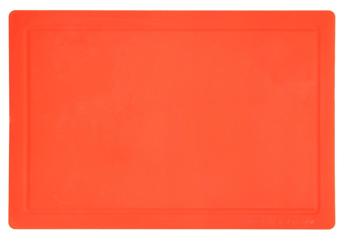 Доска разделочная TimA, гибкая, цвет: оранжевый, 36 х 25 см34182_оранжевыйГибкая разделочная доска TimA изготовлена из безопасного пищевого полиуретана. Доска гнется, что позволяет удобно высыпать нарезанные продукты. Доска не тупит металлические и керамические ножи, не впитывает влагу и легко моется. Доска имеет исключительную прочность и износостойкость. По краям имеются желобки для стока жидкости.