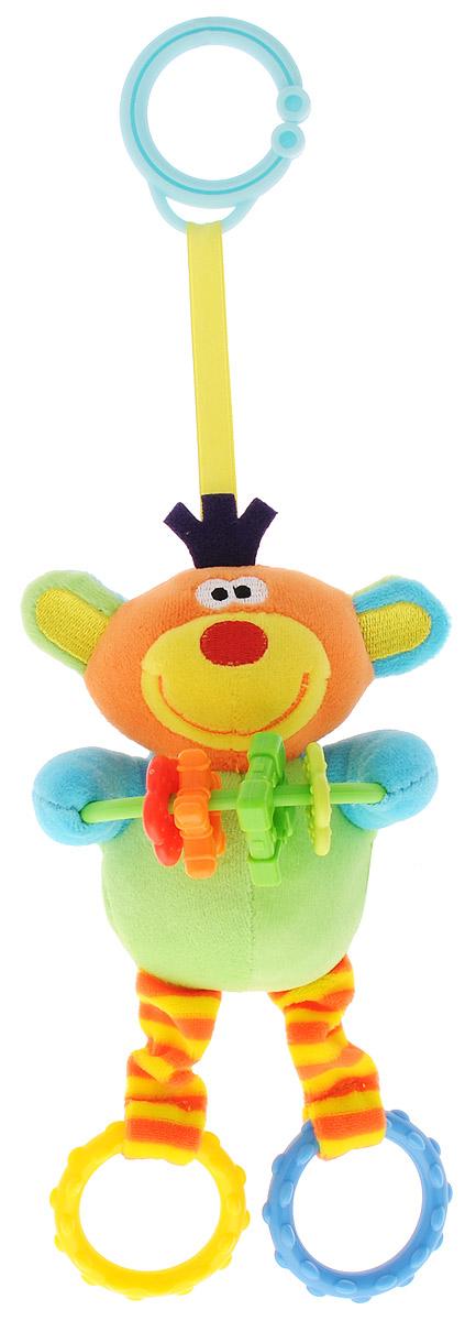 Mommy Love Мягкая игрушка-подвеска Обезьянка ЛолоOBK0\MМягкая игрушка-подвеска Mommy Love Обезьянка Лоло станет любимой игрушкой крохи. Выполнена из качественных и безопасных для детей материалов в виде очаровательной обезьянки. Изготовлена игрушка-подвеска из ярких разноцветных кусочков ткани, различных по своей текстуре. В лапках у милой обезьянки имеются различные элементы в форме цветка, звездочки, квадрата, которые малыш с интересом будет перебирать своими ручками. Ушки Лоло выполнены из шуршащего материала. Если нажать на голову обезьянки она будет издавать забавный писк. Игрушка имеет сверху и снизу колечки, за которые можно подвешивать игрушку к кроватке, коляске или манежу, также за них можно присоединить любые другие игрушки. Мягкая игрушка-подвеска Mommy Love Обезьянка Лоло поможет в развитии зрения, слуха, тактильного восприятия, а также мелкой моторики.