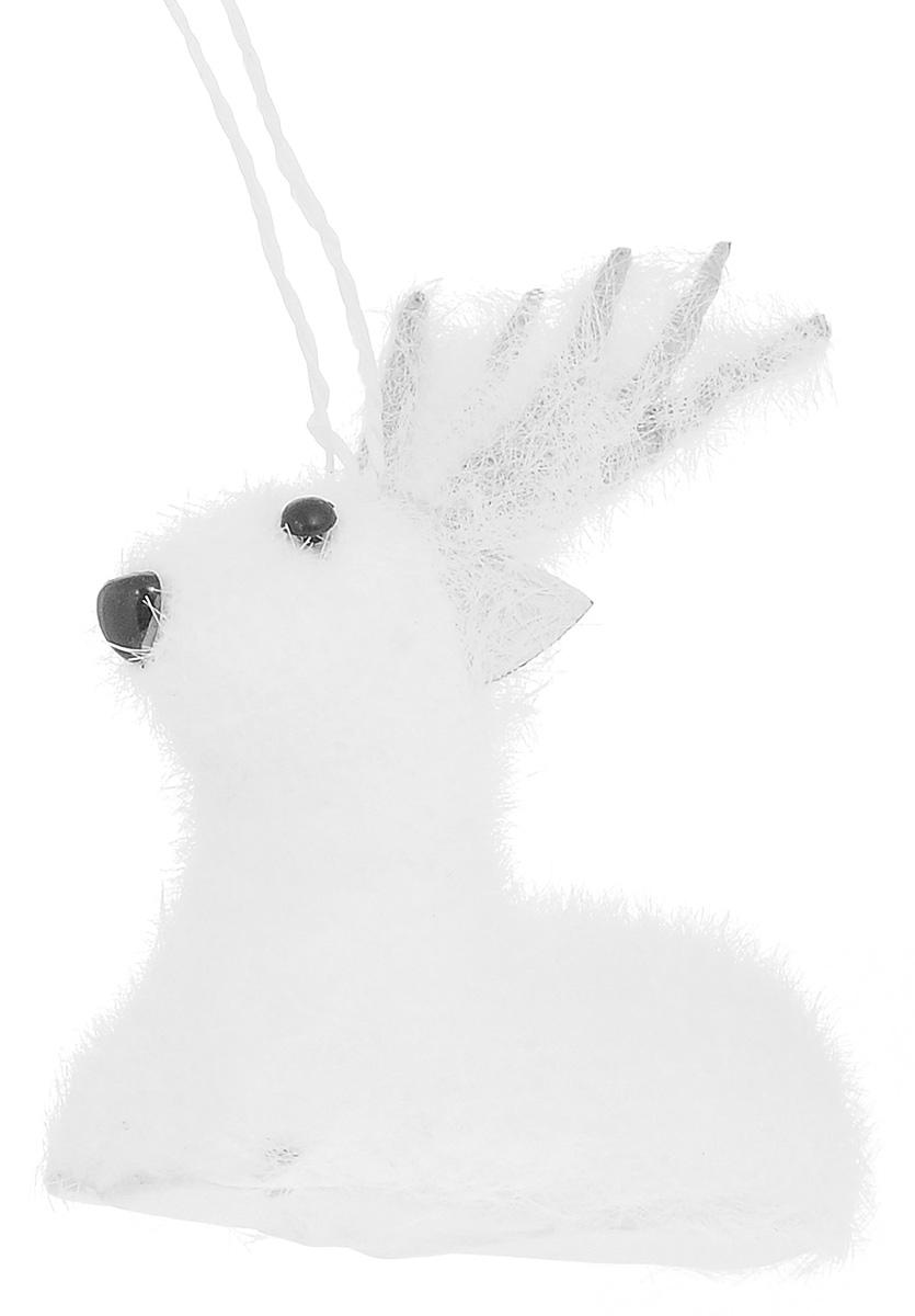 Новогоднее подвесное украшение Its a Happy Day Лесной олененок, цвет: белый, черный, 9 х 5 х 11 см68018Новогоднее подвесное украшение Its a Happy Day Лесной олененок выполнено из пенопласта и искусственного волокна в форме оленя. С помощью специальной петельки украшение можно повесить в любом понравившемся вам месте. Но, конечно, удачнее всего оно будет смотреться на праздничной елке. Елочная игрушка - символ Нового года. Она несет в себе волшебство и красоту праздника. Создайте в своем доме атмосферу веселья и радости, украшая новогоднюю елку нарядными игрушками, которые будут из года в год накапливать теплоту воспоминаний. Материал: пенопласт, искусственное волокно.