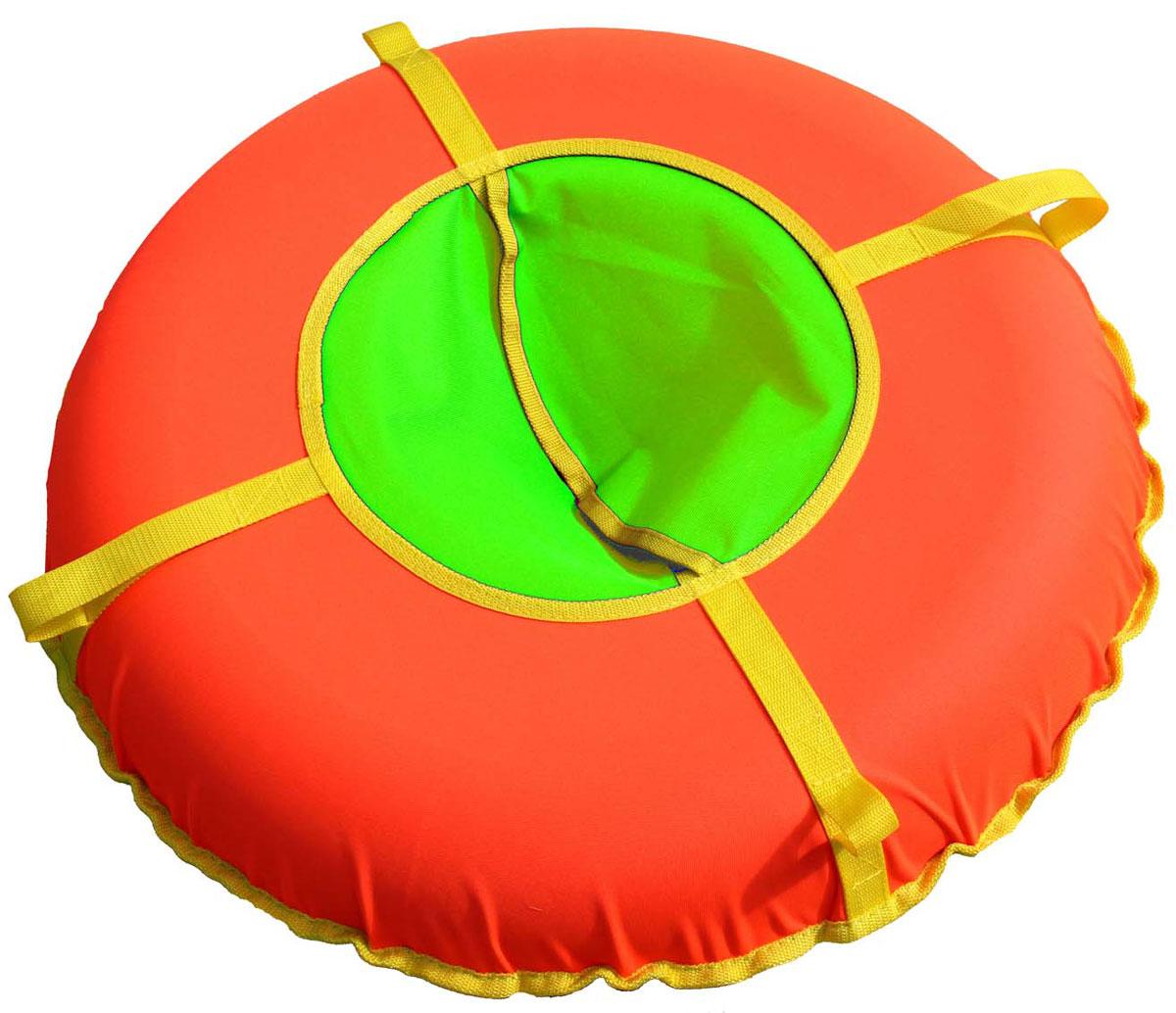 "Super Jet Tubing Тюбинг Super Jet Tubing ""Ultra"", цвет: салатовый, желтый, оранжевый, диаметр 95 см"
