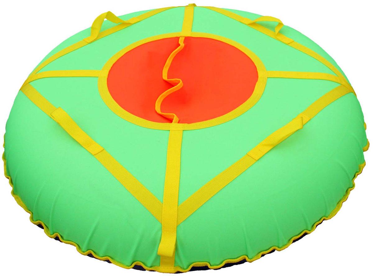 "Super Jet Tubing Тюбинг Super Jet Tubing ""Ultra"", цвет: салатовый, желтый, оранжевый, диаметр 75 см"