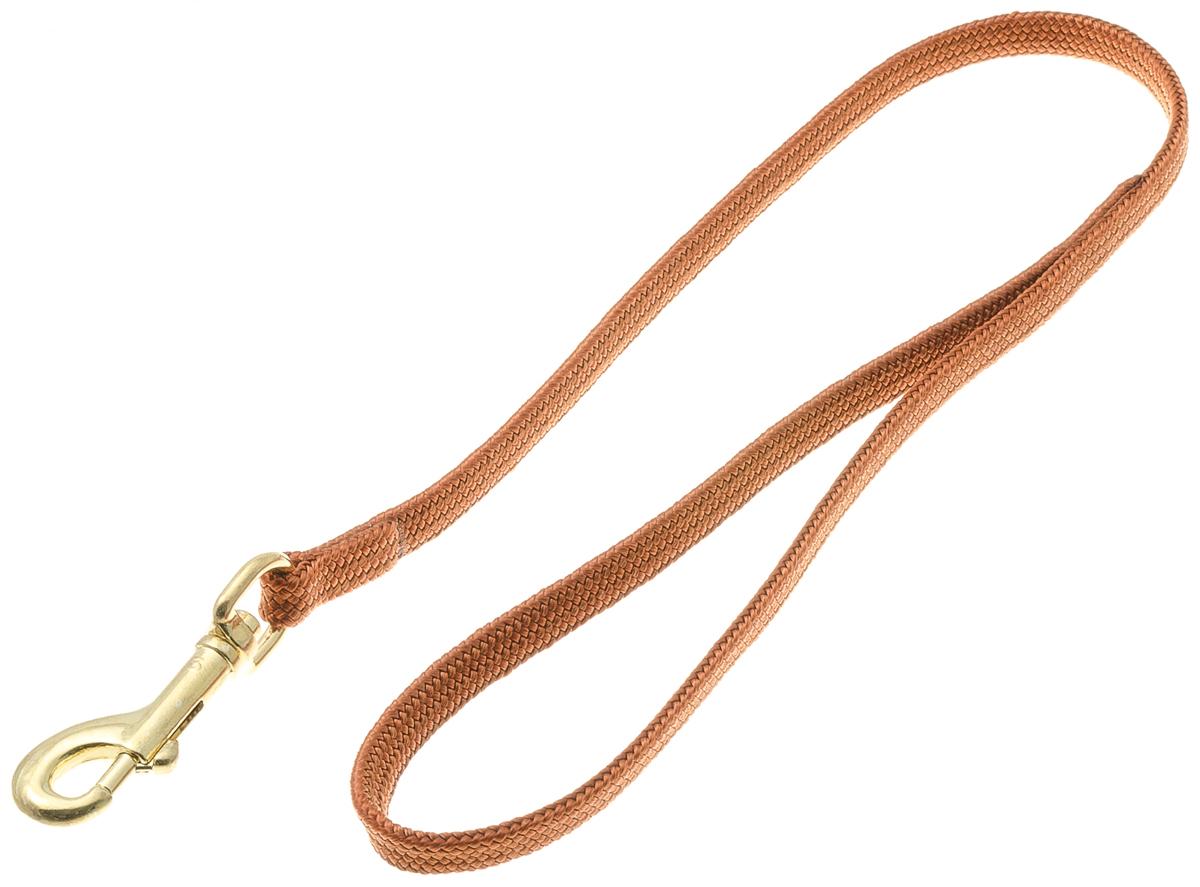 Водилка для собак V.I.Pet, цвет: светло-коричневый, ширина 7 мм, длина 50 см72-0769Профессиональная выставочная водилка V.I.Pet изготовлена из нейлона. Легкая, прочная, удобная. Применяется также для повседневного использования. При помощи карабина идеально комбинируется с выставочными цепочками, ошейниками, полуудавками.