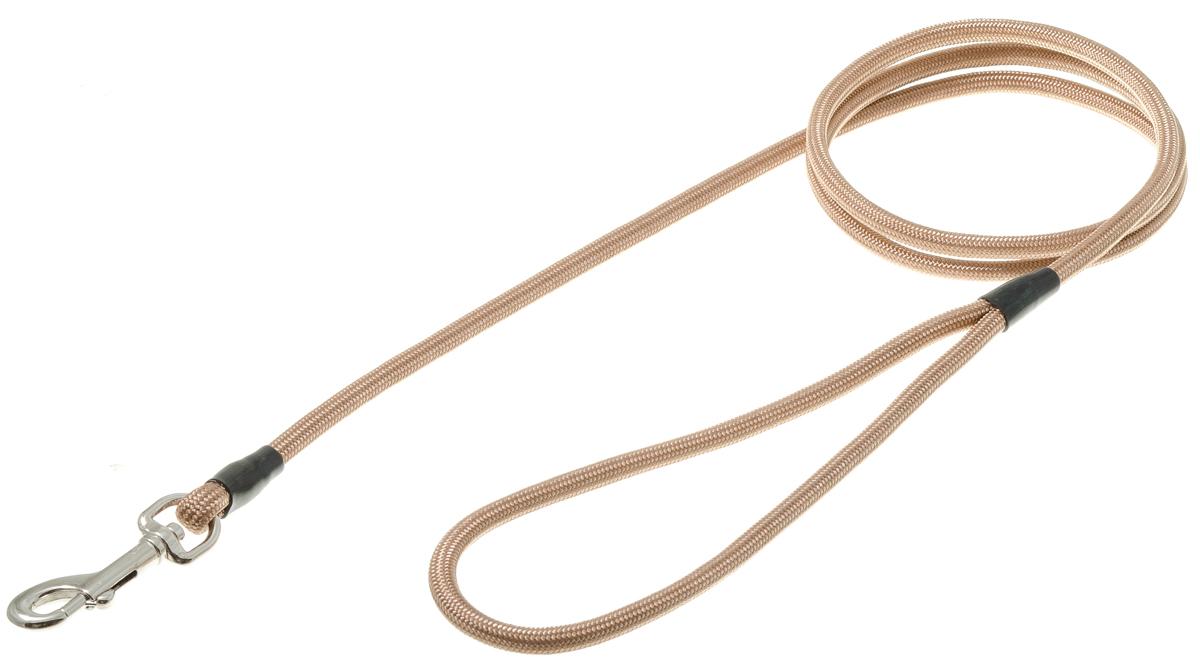 Поводок с карабином круглый 6 мм*130 см (кэмел) 73-091673-0916
