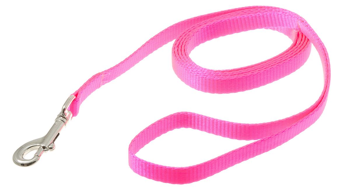 Поводок с карабином лента 10 мм*1,5 м (розовый) 73-092973-0929