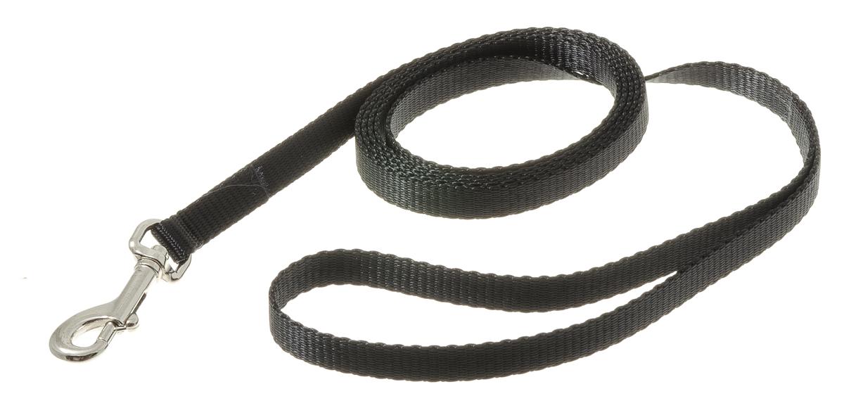 Поводок с карабином лента 10 мм*2 м (черный) 73-093773-0937