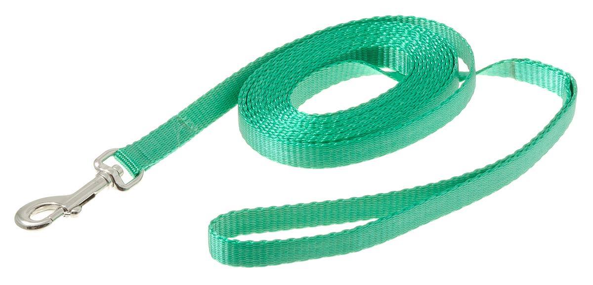 Поводок с карабином лента 10 мм*3 м (зеленый) 73-093973-0939