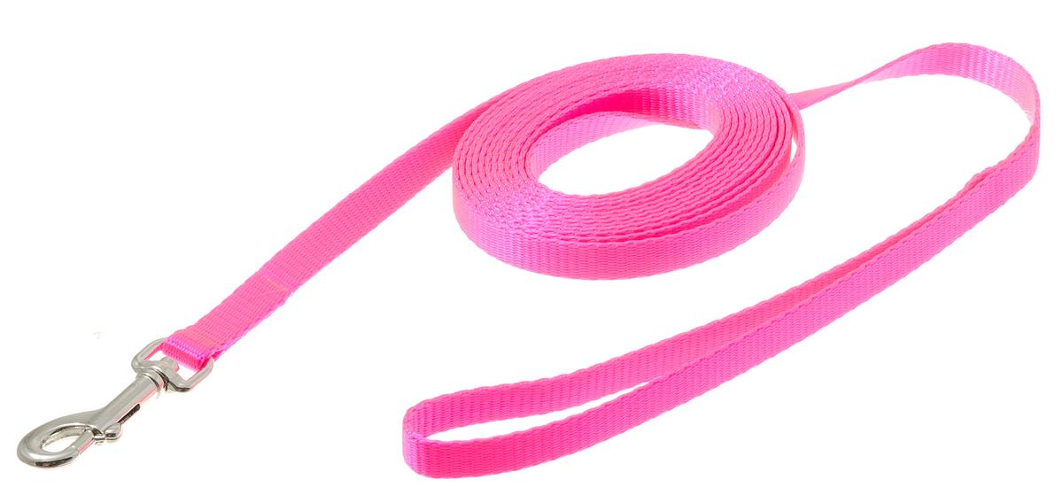 Поводок с карабином лента 10 мм*3 м (розовый) 73-094373-0943