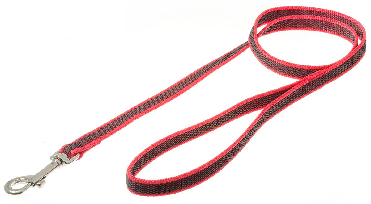 Поводок с карабином профессиональный с латексом 15мм*1 м (красный) 73-257373-2573нейлон;латекс;стальной карабин