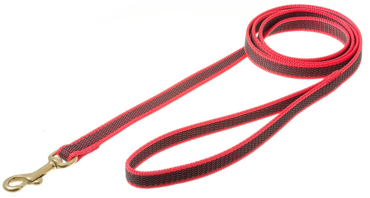 Поводок для собак V.I.Pet, профессиональный, цвет: золотистый, красный, ширина 15 мм, длина 1,5 м73-2580Профессиональный нейлоновый поводок V.I.Pet с латексной нитью предназначен для дрессировки собак, а также для повседневного использования. Подойдет для сильных и активных собак. Не скользит, не обжигает руки. Вращающийся вертлюг карабина предотвращает перекручивание поводка. Ширина поводка: 15 мм.