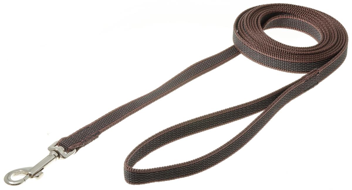 Поводок с карабином профессиональный с латексом 15мм*3м (коричневый) 73-259073-2590нейлон;латекс;стальной карабин