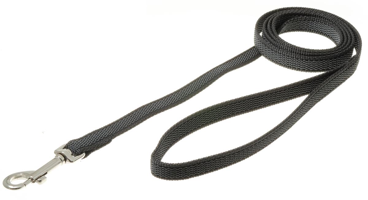 Поводок с карабином профессиональный с латексом 15мм*1,5м (черный) 73-260373-2603нейлон;латекс;стальной карабин