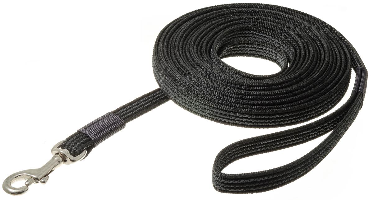 Поводок с карабином V.I.Pet 20мм * 7 м (черный) 73-0870ПК7/20Л