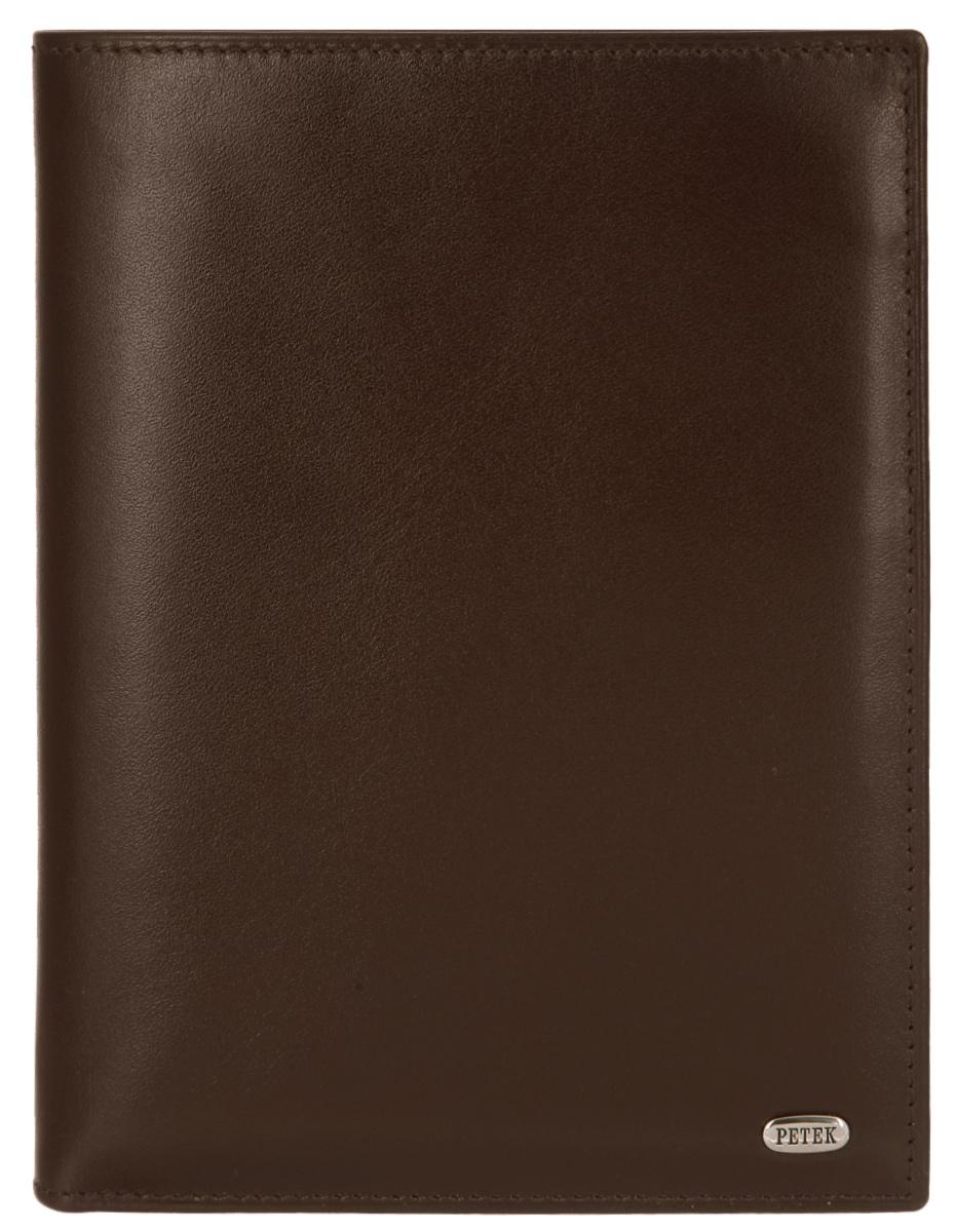 Портмоне мужское Petek 1855, цвет: коричневый. 142.000.222 142.000.222 D.Brown
