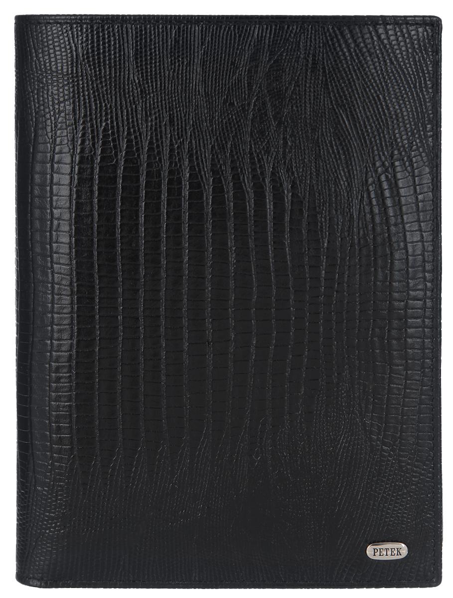 Портмоне Petek, цвет: черный. 142.041.01142.041.01 BlackСтильное мужское портмоне Petek 1855 выполнено из натуральной кожи с тиснением под рептилию и оформлено металлической фурнитурой с символикой бренда. Внутренняя часть изделия выполнена из текстиля и натуральной кожи. Изделие раскладывается пополам. Внутри размещено два отделения для купюр, три накладных кармашка для кредитных карт и визиток, три боковых кармана для мелких бумаг и кармашек с сетчатым окошком. Дополнением к портмоне служит обложка с сетчатыми вставками для паспорта и других документов, которую можно хранить как внутри основного изделия, так и использовать как самостоятельный аксессуар. Изделие поставляется в фирменной упаковке. Стильное портмоне Petek 1855 станет отличным подарком для человека, ценящего качественные и практичные вещи.
