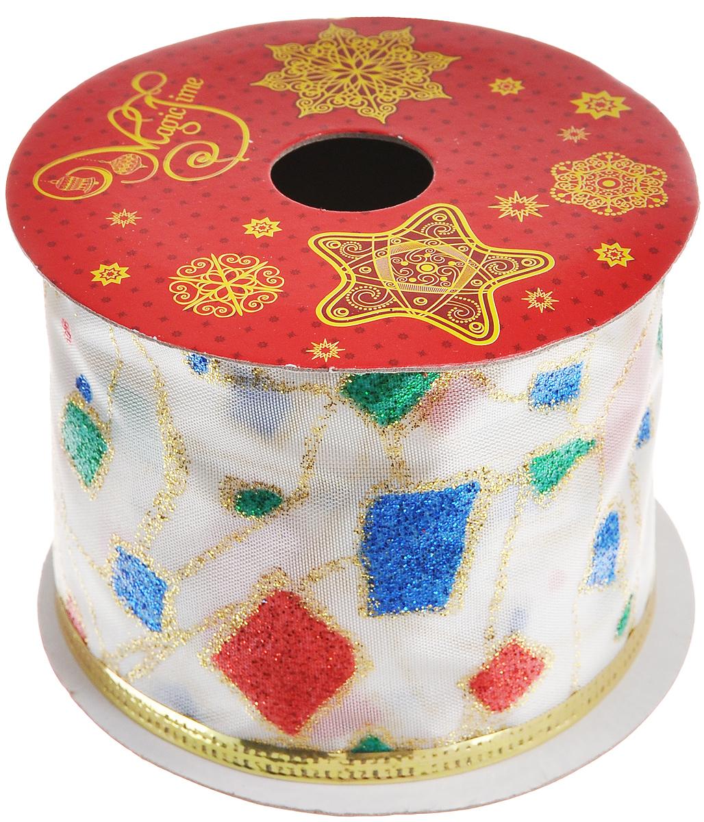 Декоративная лента Феникс-презент Разноцветные квадратики, цвет: белый, зеленый, красный, длина 2,7 м38904Декоративная лента Феникс-презент Разноцветные квадратики выполнена из высококачественного полиэстера. В края ленты вставлена проволока, благодаря чему ее легко фиксировать. Лента предназначена для оформления подарочных коробок, пакетов. Кроме того, декоративная лента с успехом применяется для художественного оформления витрин, праздничного оформления помещений, изготовления искусственных цветов. Декоративная лента украсит интерьер вашего дома к праздникам. Ширина ленты: 6,3 см.