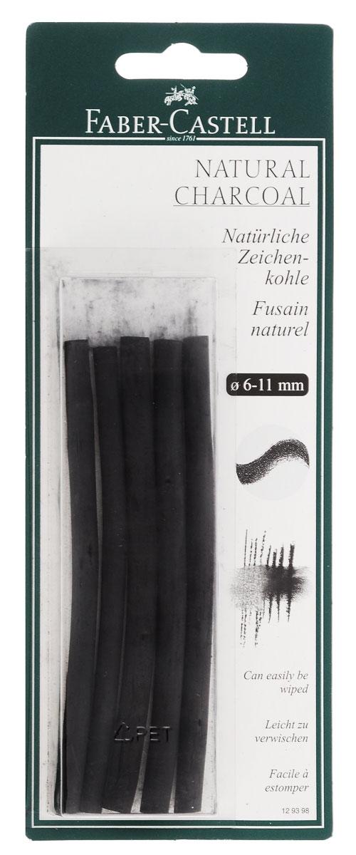 Faber-Castell Натуральный уголь Pitt Monochrome 5 шт129398Набор стержней из натурального угля для рисования Faber-Castell Pitt Monochrome состоит из 5 углей, выполненных в форме карандаша. Это один из самых уникальных и высококачественных продуктов компании Faber-Castell (Германия). Натуральный уголь изготовлен из буковых или вербных веточек. Отличается насыщенным и равномерным черным цветом с синеватым оттенком. Уголь - это быстрый, линейный и чувственный рисовальный инструмент. Он может создать как выразительные, так и мягкие линии, гибкость которых непревзойденна. Характер и воздействие угольного штриха определяется способом ведения угля. Углем можно создавать мягкие и проработанные тоновые эффекты различными способами. В комплект входят 5 угольных стержней диаметром от 6 до 11 мм.