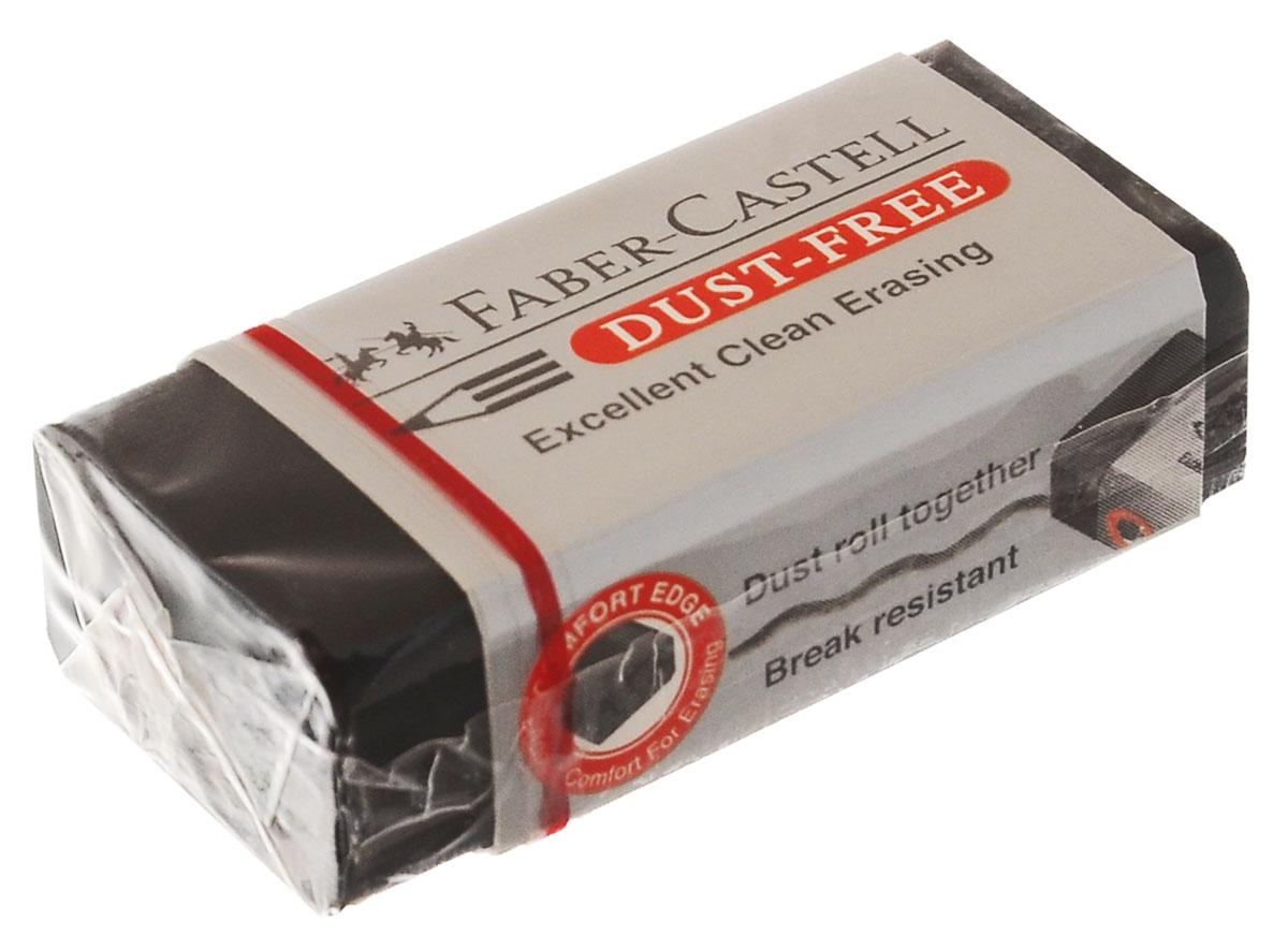 Faber-Castell Ластик DUST FREE263424Ластик Faber-Castell DUST FREE из ПВХ в черной защитной упаковке, не содержит фталаты, пригоден для графитных простых и цветных карандашей. Уважаемые клиенты! Обращаем ваше внимание на возможное варьирования размеров товара. Поставка возможна в зависимости от наличия на складе. Размеры ластика: 4,5 х 2 х 1,5 см или 5,7 x 1,7 x 1,3 см.