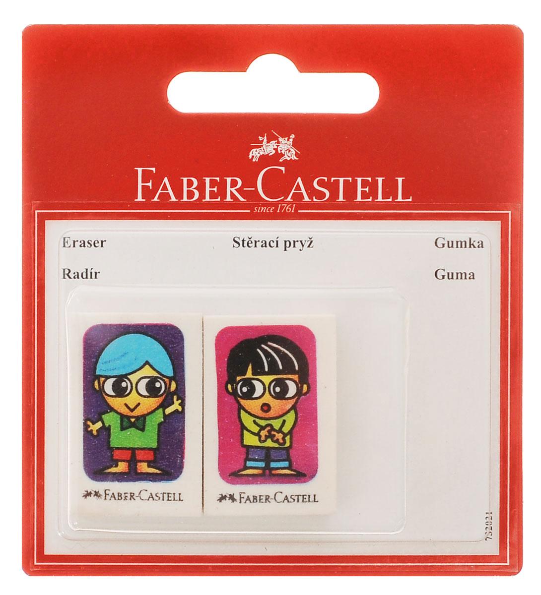 Faber-Castell Ластик Друзья 2 шт263311Ластик Faber-Castell Друзья с изображением двух друзей, по одному на каждом ластике, не содержит ПВХ, пригоден для графитных простых и цветных карандашей. Размеры ластика: 3,5 см х 2,2 см х 0,5 см. В комплекте 2 ластика. УВАЖАЕМЫЕ КЛИЕНТЫ! Обращаем ваше внимание на тот факт, что комплектация может отличаться от представленной на фото и зависит от наличия на складе.