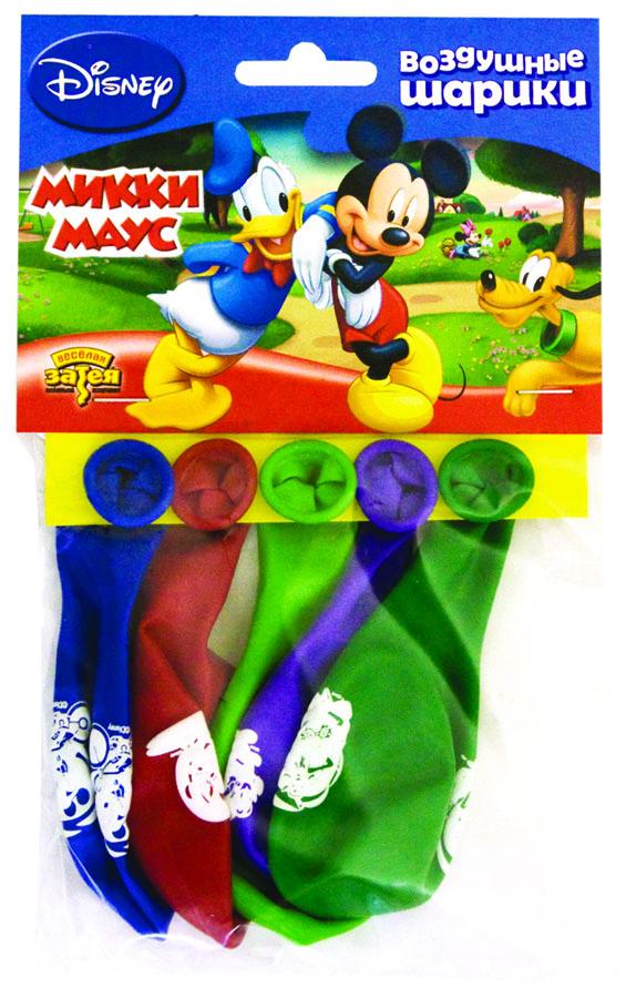 Веселая затея Набор воздушных шаров Микки Маус 5 шт 1111-0282