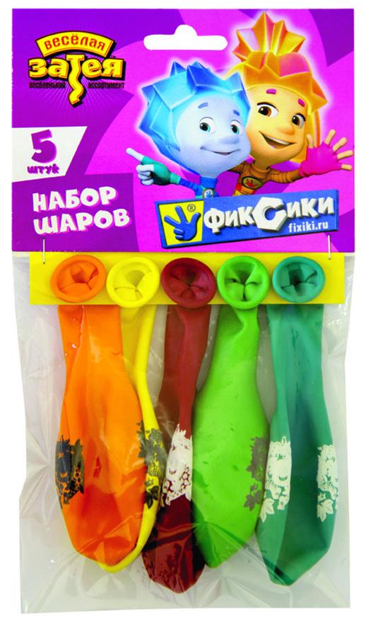 Веселая затея Набор воздушных шаров Фиксики 5 шт в ассортименте