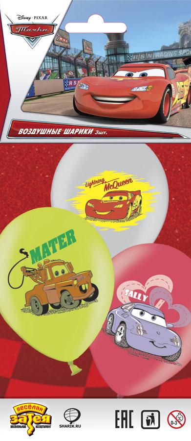 Набор шаров рис Disney Тачки 3цв 36см3шт1111-0462