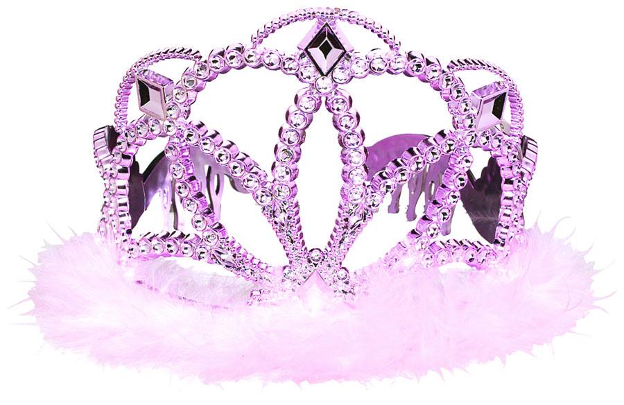 Тиара с перьями розовая/А1501-0723