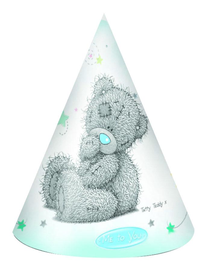Веселая затея Колпак Me to You 8 шт1501-1610Восемь колпаков на резинках с трогательным мишкой Me to You! Встречайте в них новорожденного или день рождения малыша!