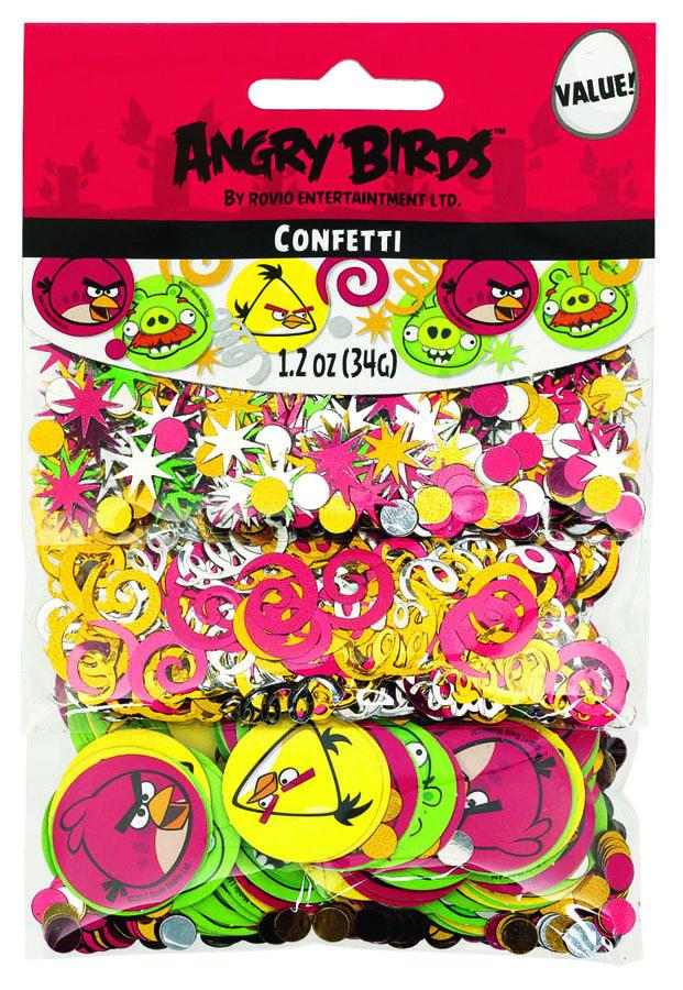 Веселая затея Конфетти Angry Birds 3 вида1501-1880Конфетти Angry Birds представлено в трех дизайнах: цветные кружочки и звездочки, спирали и бумажные кружочки с изображениями героев мультфильма. Конфетти, рассыпанное на столе, является необычной и привлекательной формой украшения праздничного застолья. Еще один оригинальный способ порадовать друзей и близких - насыпьте конфетти в конверт с открыткой - это будет неожиданный сюрприз! Конфетти - прекрасный материал для рукоделия.