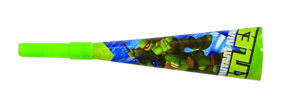 Веселая затея Горн Черепашки Ниндзя 8 шт1501-2036Комплект из шести ярких горнов Черепашки Ниндзя порадует всех гостей детского праздника. Маленькие непоседы непременно заинтересуются звонкими и необычными аксессуарами, а взрослые смогут показать, как правильно пользоваться горнами. Изделия выполнены из прочного картона и пластмассы, безопасной для здоровья человека. Оригинальные горны подарят сказочную атмосферу, веселые конкурсы и незабываемые впечатления.