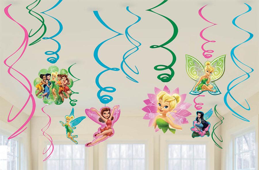 Amscan Спираль Disney Феи 12 шт1501-2113Приближается день рождения или другая знаменательная дата? Создать праздничную атмосферу в доме поможет украшение-спираль Disney. Феи. Каждая спираль снабжена колечком для крепления к потолку или стене. В наборе 12 разноцветных украшений.