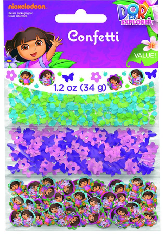 Веселая затея Конфетти Даша-путешественн 3 вида1501-2345Конфетти Даша-путешественница представлено в трех дизайнах: бабочки и цветы; голубые и золотые божьи коровки; бумажные фишки с портретами Даши и ее друзей. Конфетти, рассыпанное на столе, является необычной и привлекательной формой украшения праздничного застолья. Еще один оригинальный способ порадовать друзей и близких - насыпьте конфетти в конверт с открыткой - это будет неожиданный сюрприз! Конфетти - прекрасный материал для рукоделия.
