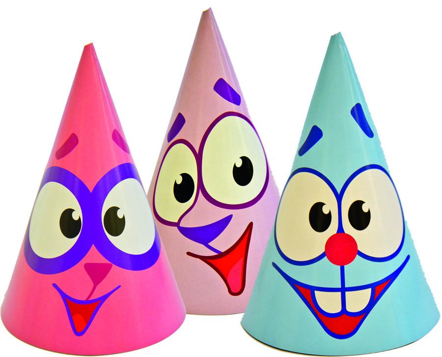 Веселая затея Колпак Смешарики Улыбки 8 шт1501-2352Колпаки-мордочки Бараша, Кроша и Ежика. Только глаза, улыбки и пятачки...то есть носы. Можно припрятать такую упаковку для неожиданных гостей - и любой вечер станет настоящим праздником перевоплощения! В наборе 8 колпачков с резинками.