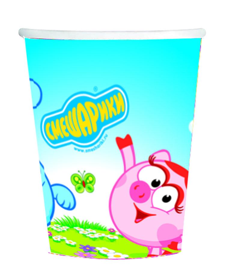 Amscan Стакан Смешарики 8 шт1502-0652Стаканы Amscan Смешарики изготовлены из качественной пищевой бумаги. Они выполнены в ярких цветах и оформлены изображениями главных героев известного мультфильма Смешарики. Изделие станет великолепным дополнение к детскому торжеству. Такая посуда является экологически чистой, не наносит вреда здоровью и достаточно быстро самостоятельно утилизируется, не загрязняя окружающую среду. В комплекте 8 картонных стаканчиков.