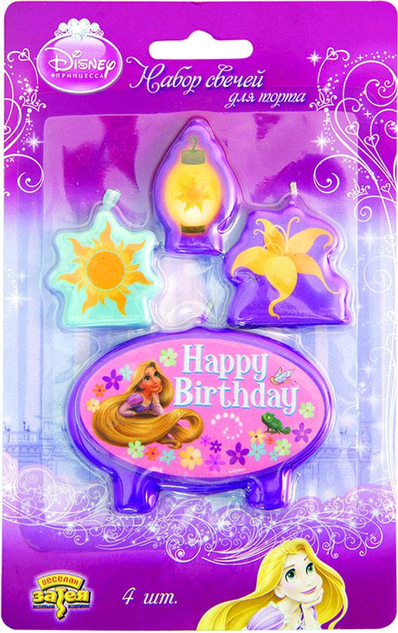 Свечи д/торта Disney HB Рапунцель 4шт/А1502-0948