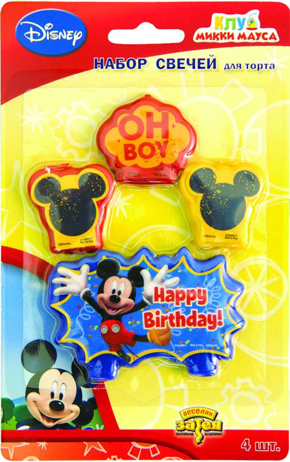 Свечи д/торта Disney Микки Маус 4шт/А1502-0950