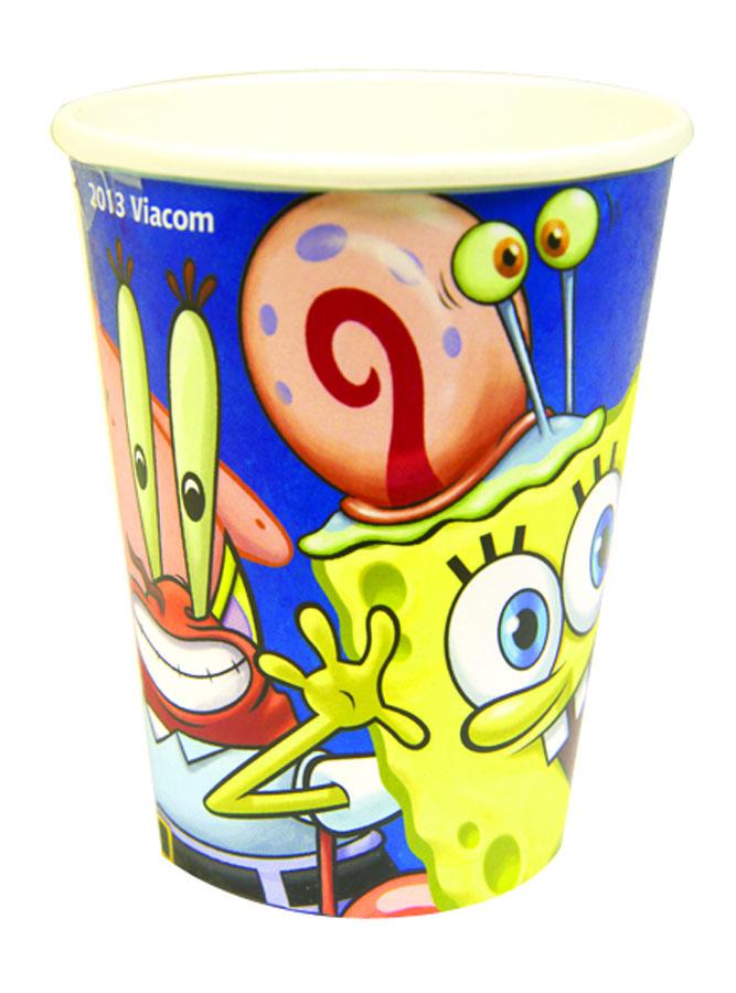 Amscan Стакан Губка Боб 8 шт1502-1063Стаканы Amscan Губка Боб изготовлены из качественной пищевой бумаги. Они выполнены в ярких цветах и оформлены изображениями героев известного мультфильма SpongeBob. Изделие станет великолепным дополнение к детскому торжеству. Такая посуда является экологически чистой, не наносит вреда здоровью и достаточно быстро самостоятельно утилизируется, не загрязняя окружающую среду. В комплекте 8 картонных стаканчиков.