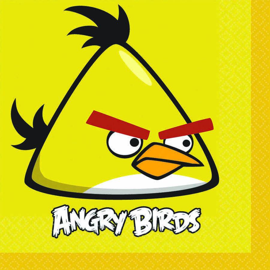 Amscan Салфетка Angry Birds 33 х 33 см 16 шт1502-1112Перед вами самый распространенный вид Angry Birds - желтая птица. В полете ускоряется, несколько меняя траекторию. А сейчас эта особа расположилась на больших бумажных салфетках, которые будут ярким акцентом в остальной сервировке с персонажами Angry Birds.
