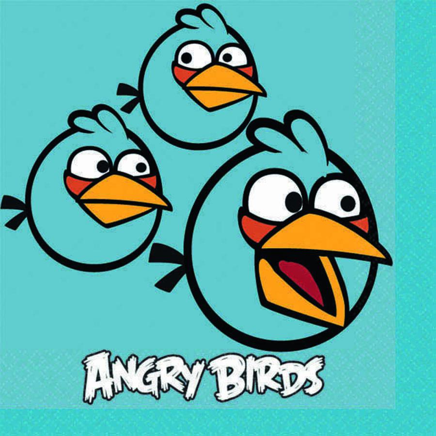 Салфетка Angry Birds 25см 16шт/А