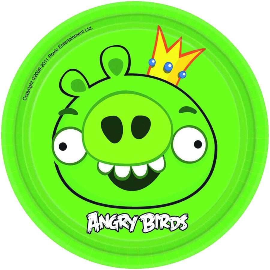 Тарелка Angry Birds 17см 8шт/А1502-1114