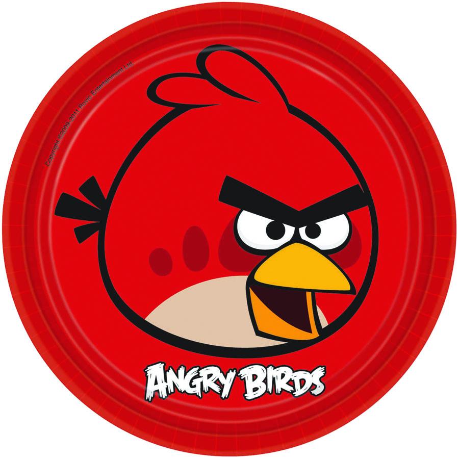 Amscan Тарелка Angry Birds цвет красный 8 шт1502-1115Хотя Красная птица Angry Bird и не имеет особых умений, но является символом любимой игры, и появляется, начиная с самого первого уровня, в том числе и на больших бумажных тарелках. В упаковке 8 штук.