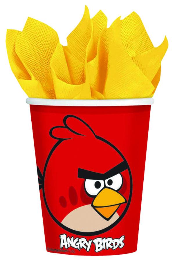 Amscan Стакан Angry Birds 8 шт1502-1117Стаканы Amscan Angry Birds изготовлены из качественной пищевой бумаги. Они выполнены в красном цвете и оформлены изображениями героев известного мультфильма Angry Birds. Изделие станет великолепным дополнение к детскому торжеству. Такая посуда является экологически чистой, не наносит вреда здоровью и достаточно быстро самостоятельно утилизируется, не загрязняя окружающую среду. В комплекте 8 картонных стаканчиков.