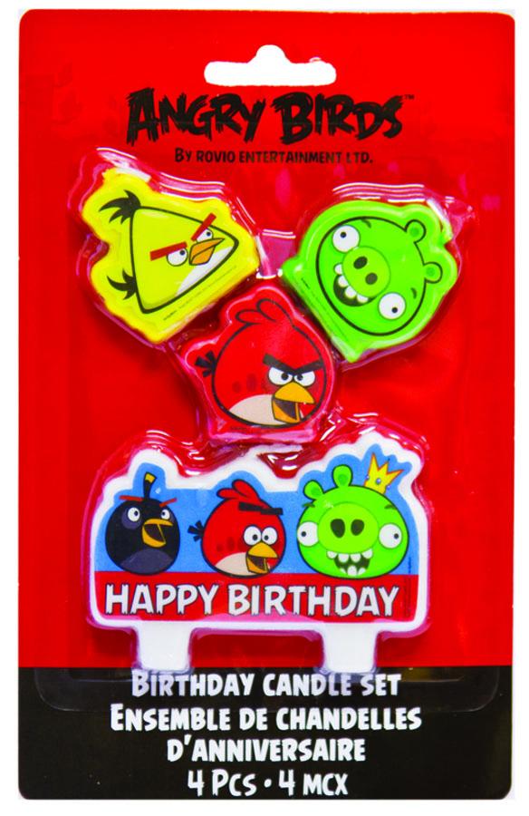Свечи д/торта Angry Birds 4шт/A1502-1119