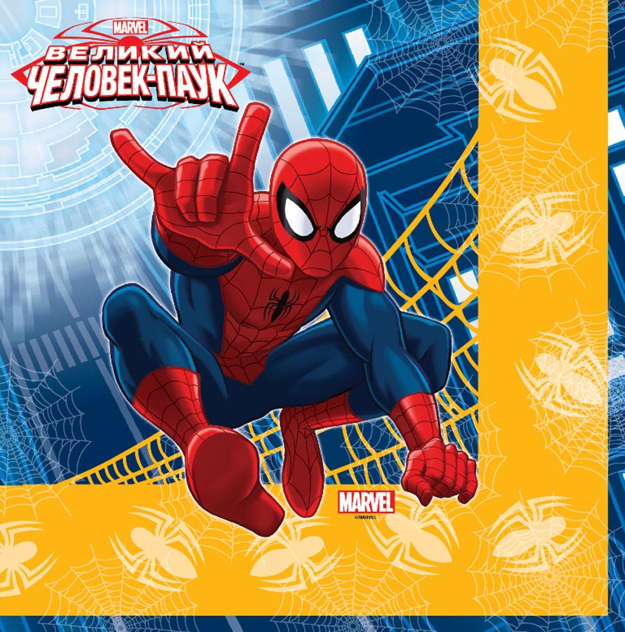 Салфетка Marvel Человек-Паук 33см 12шт/G1502-1166
